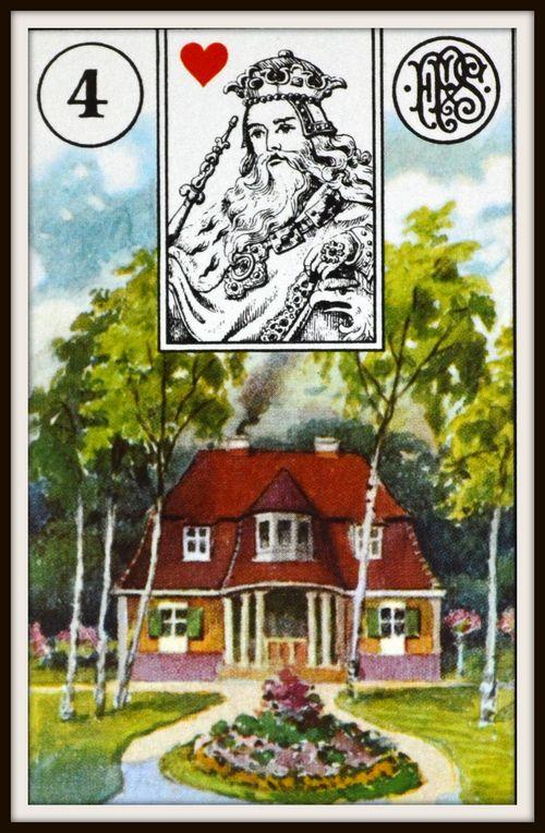 dom - karty lenoramand - wróżka Arkadia