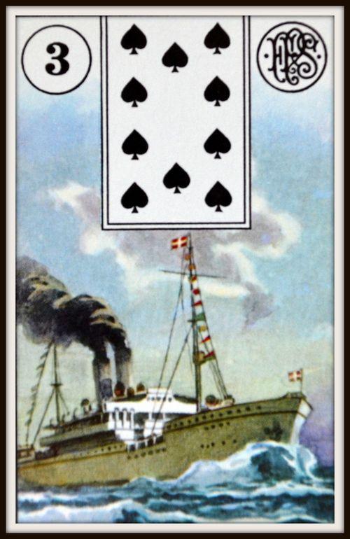statek - karty lenormand, wróżka Arkadia